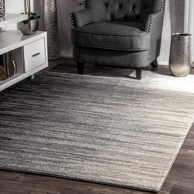 nuLOOM Lexie Ombre Area Rug, 3' x 5', Black