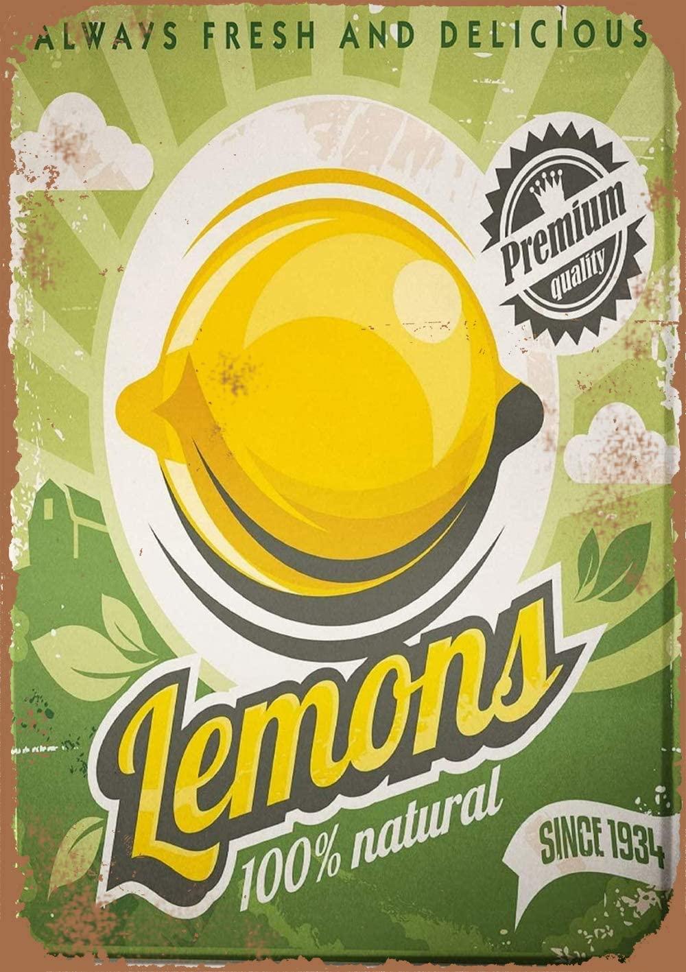 PaBoe Lemons Vintage Metal Sign 8