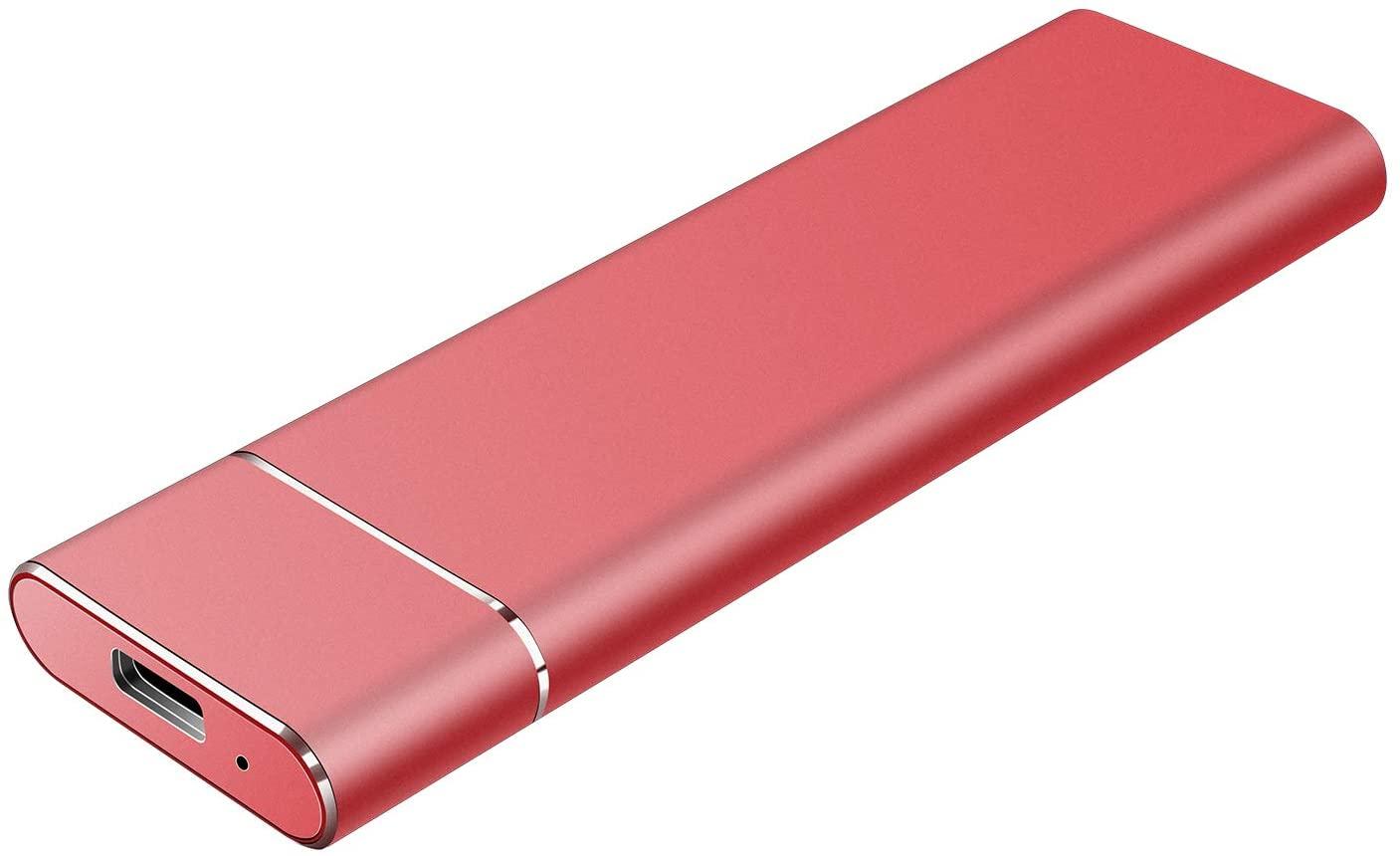 External Hard Drive 1TB - Ultra Slim Portable Hard Drive External Hard Drive for Mac,PC,Desktop,Laptop - Red,1TB