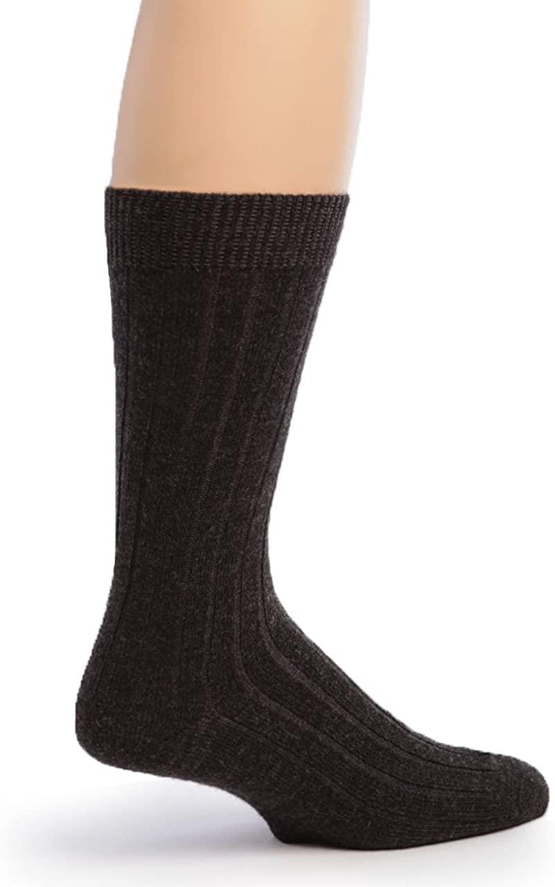 Warrior Alpaca Socks - Men's Superfine Alpaca Ribbed Dress Socks