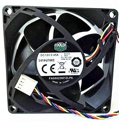 for Cooler Master FA08025M12LPA 12V 0.45A 8025 Cooling Fan