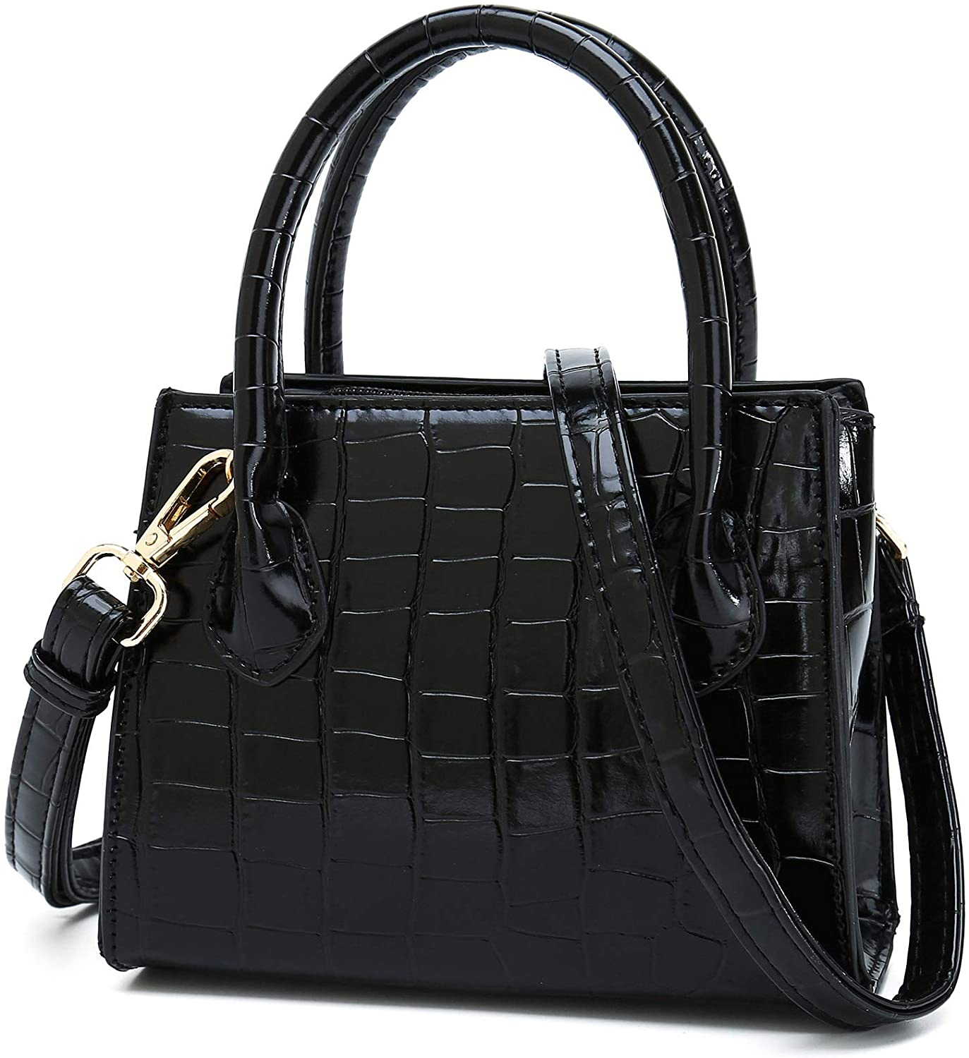 CATMICOO Trendy Mini Purse for Women, Small Handbag and Shoulder Bag with Crocodile Pattern