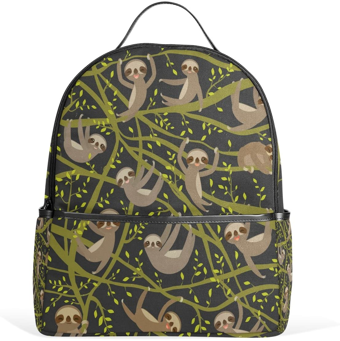 Use4 Hipster Sloth Tree Polyester Backpack School Travel Bag