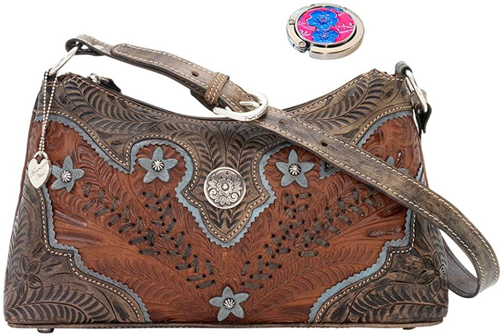 American West Leather - Shoulder Handbag Hobo Purse Holder Bundle