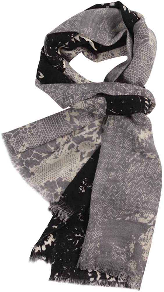 WAMSOFT Womens 100% Pure Wool Scarf, Large Fall/Winter Floral Paisley Soft Fashion Pashmina Scarf Shawl Wrap