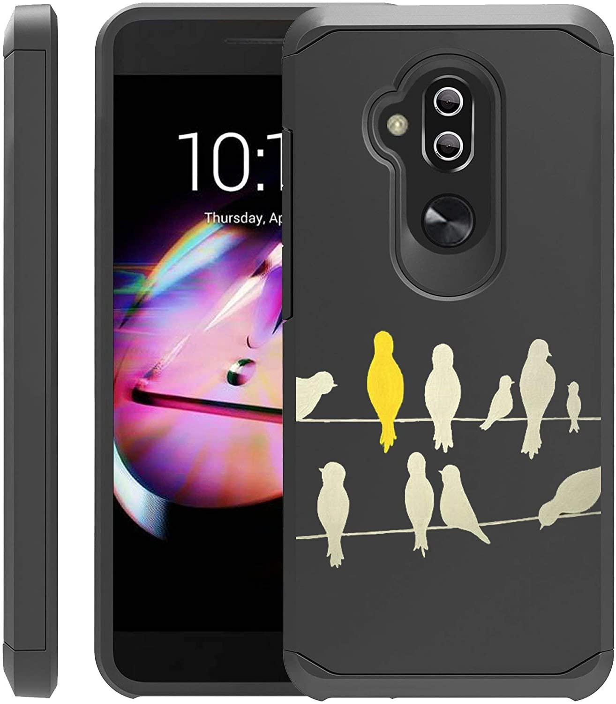 Untouchble Case for Alcatel 7, Alcatel Folio 7, Alcatel REVVL 2 Plus (2018) Case [Shock Bumper Case] Shock Absorbing Drop Protection Dual Layer Case - Perched Birds