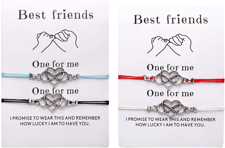 Osemind Infinity Heart Bracelet Compass Bracelet for Women Girls Friendship Relationship Bracelets Charm Bracelet