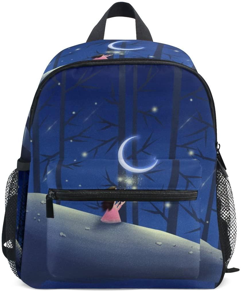 Whale And Lucky Girl Backpack Lightweight Preschool Bag Kids Toddler Bag for Boys Girls