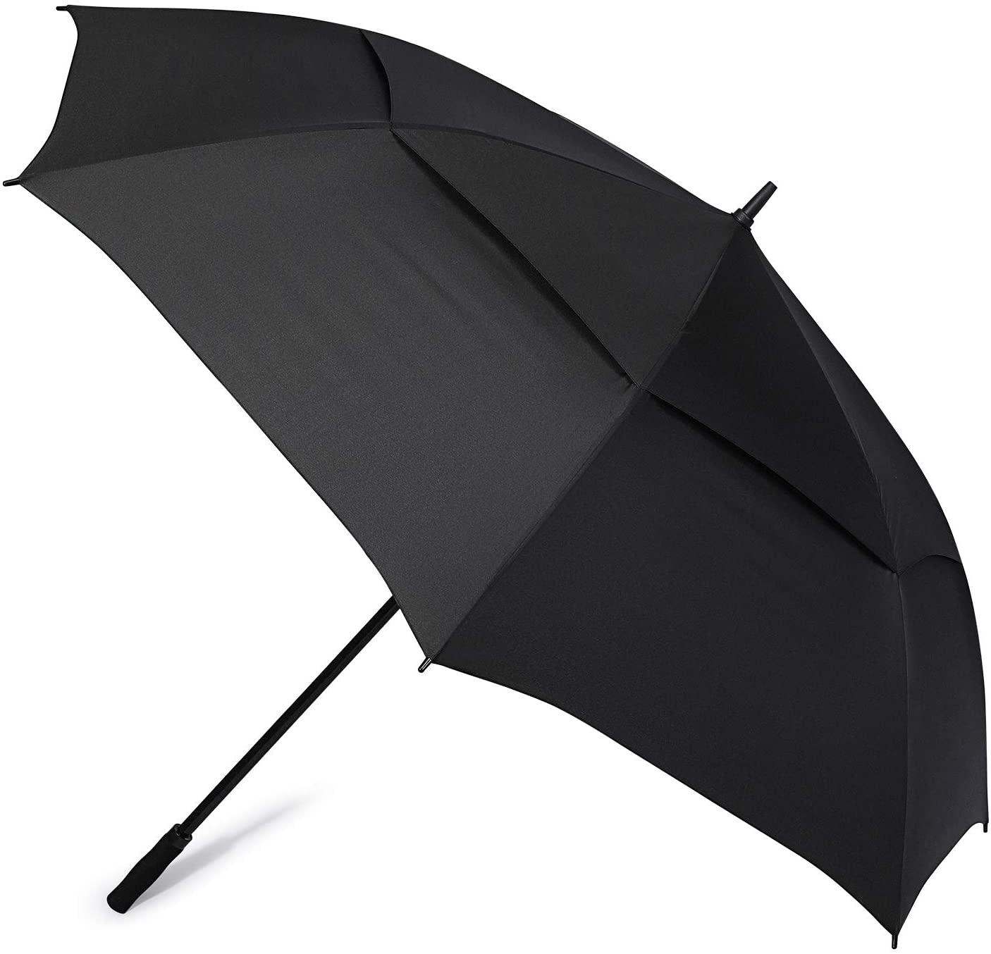 G4Free 72 Inch Huge Large Oversize Golf Umbrella Automatic Open Double Canopy Vented Windproof Stick Umbrellas, 6 Ft Heavy Duty Outdoor Doorman Umbrella Family Umbrella