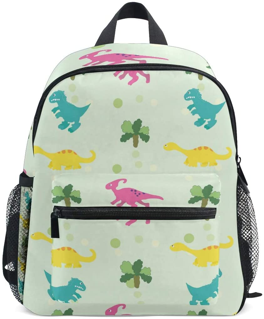 OREZI Ornament With Dinosaurs Kids Backpack,Toddler Schoolbag Preschool Bag Travel Bacpack for Little Boy Girl