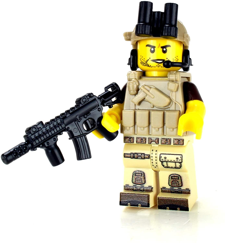 Tan Army Soldier Minifigure Value- Battle Brick Custom Minifigure