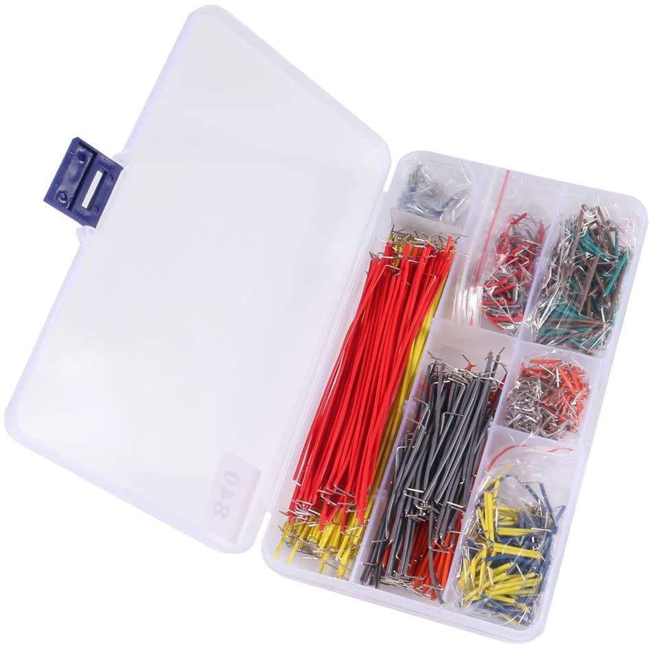Organizer 840 Pieces Preformed Breadboard Jumper Wire Kit 14 Lengths Assorted Jumper Wire for Breadboard Prototyping Solder Circuits
