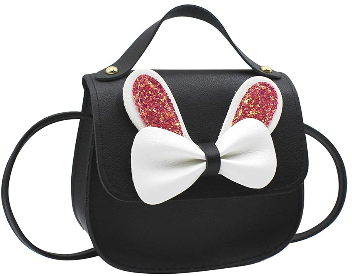 Bolley Joss Little Girls Crossbody Purse Cute Bowknot Shoulder Tote Bag Small Handbag for Kids Toddlers