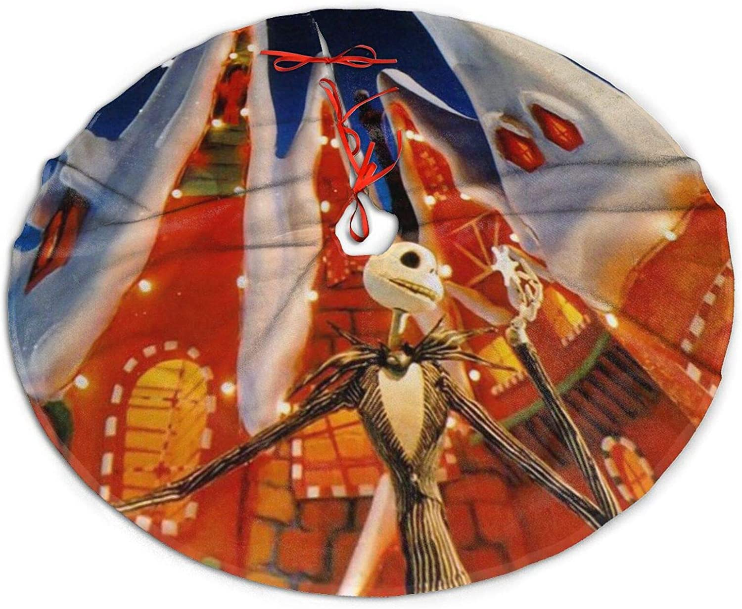 Sadie Mae The Nightmare Before Christmas Christmas Tree Skirt Kits Mat for Christmas Decorations for Xmas Gifts New Year Party and Holiday Soft and Light Easy to Put in Home Office Livingroom 48in