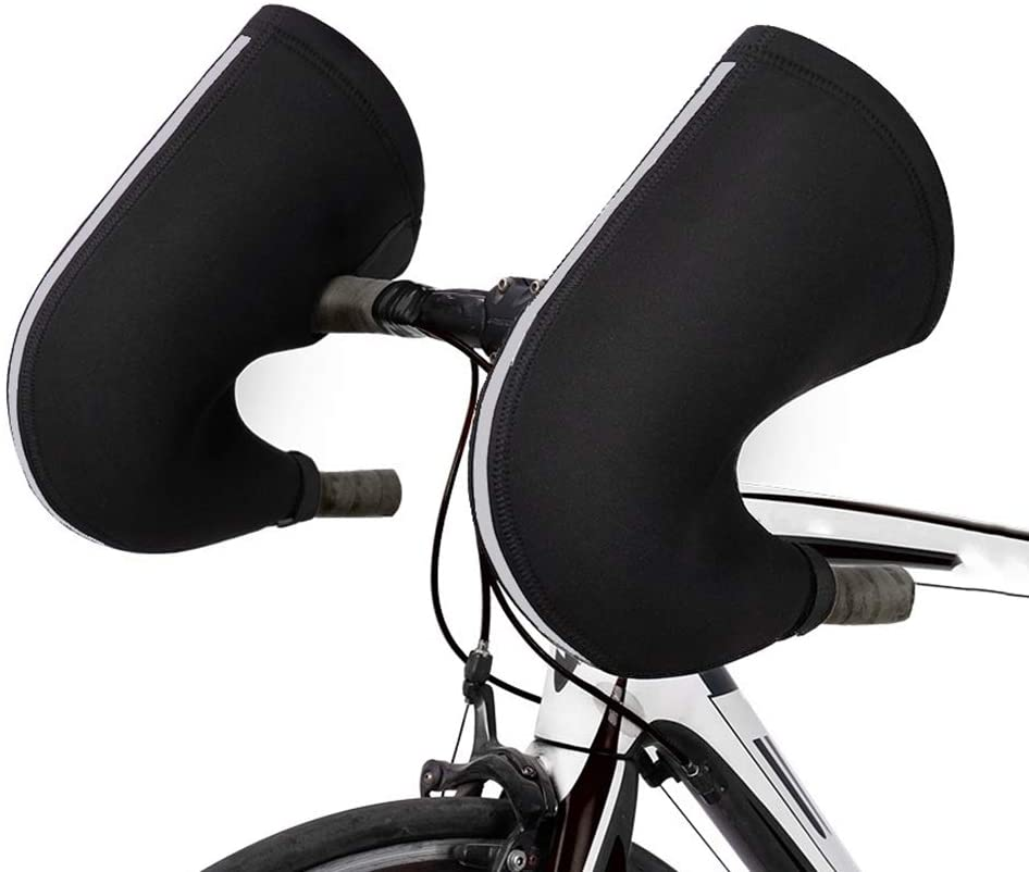 Bike Handlebar Mitts, Cold Weather Road Bicycle Handlebar Mittens, Handlebar Mitts Mittens for Road Bicycles, Shifters with Internally Routed Cables