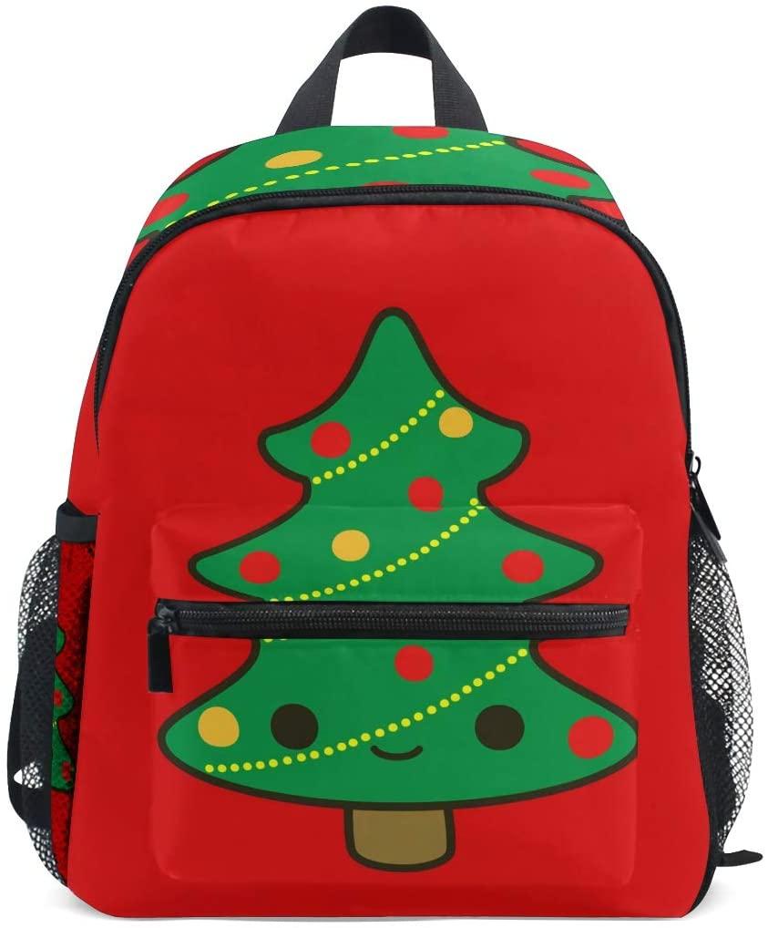 Kids School Bag Backpack Cute Christmas Tree Children Bookbag