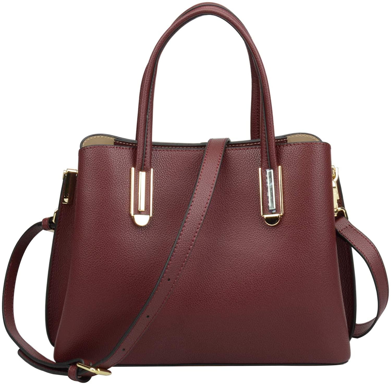 Ainifeel Womens Genuine Leather Handbags and Purses Top Handle Handbags For Work Business Purse Office Bags