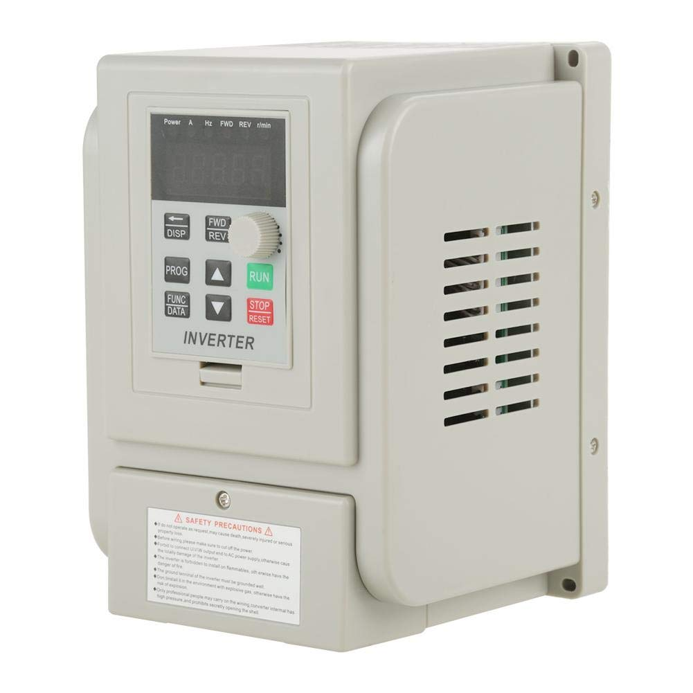 Taidda Variable Frequency Drive, Variable Frequency Drive Sturdy Durable AC 220V 1.5KW Variable Frequency Drive VFD Rate Controller for 3-Phase Motor