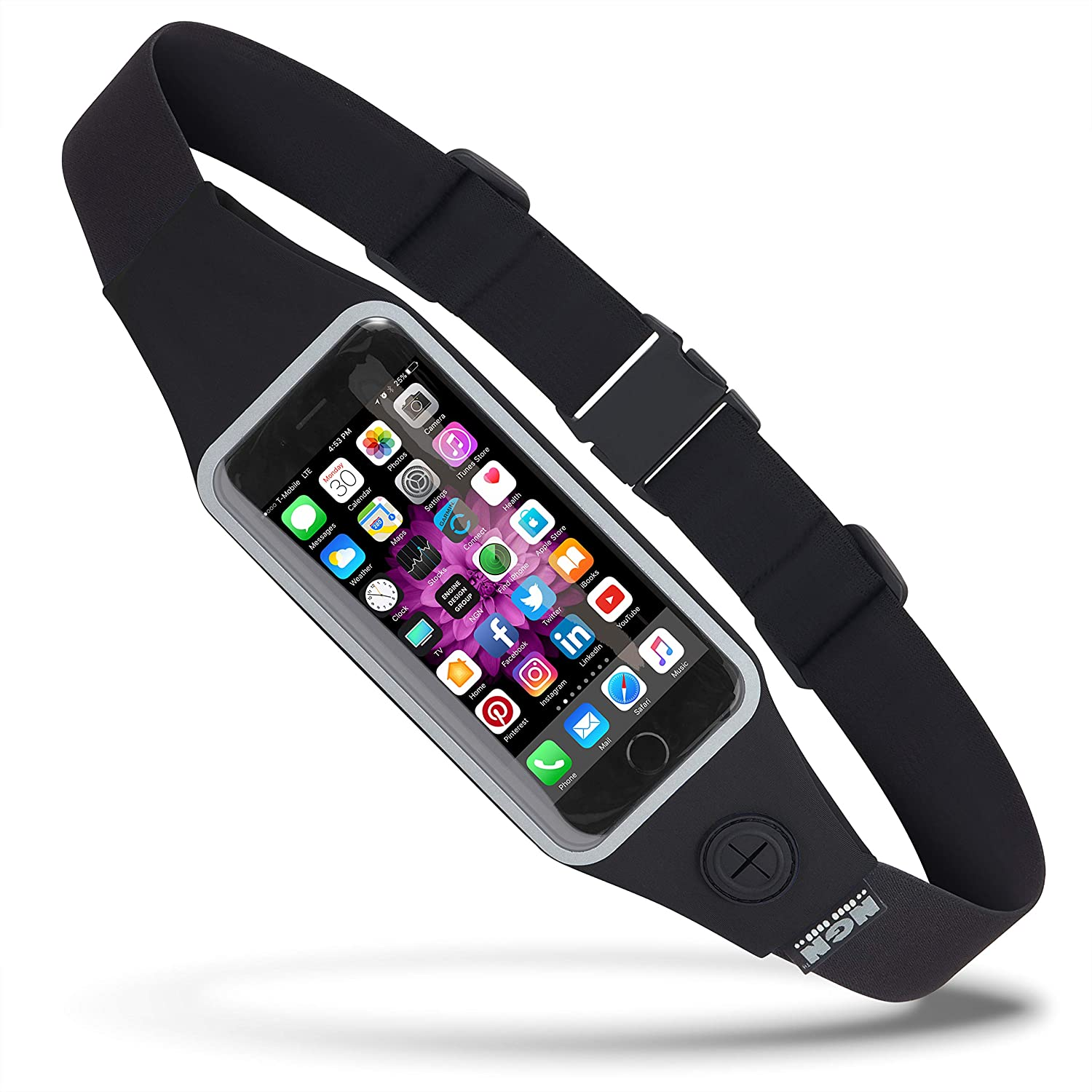 NGN Sport – Running Belt/Waist Pack/Fitness Belt for iPhone, Android and Most Smartphones