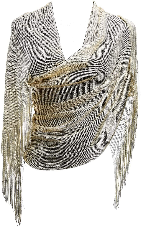 1920s Gatsby Weddings Evening Scarfs,Sheer Glitter Sparkle Piano Shawl Wrap