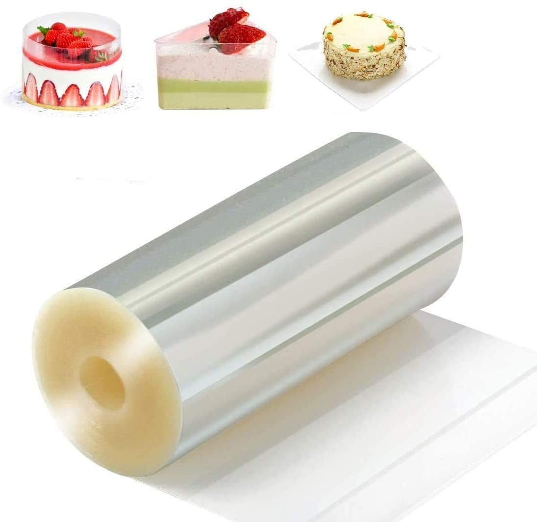 Cake Collars Transparent Acetate Mousse Cake Sheets Clear Cake Strips for Cake Decorating, Chocolate Mousse Baking Surrounding Edge Decorating Acetate Roll Keeping Cake Shape (4 inx 394 in)