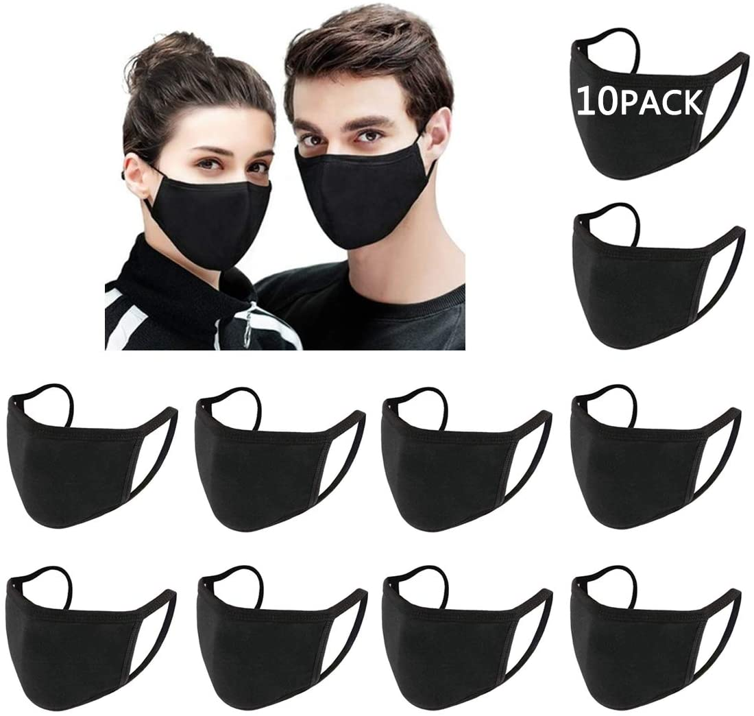 10 Pack Cotton Unisex Face Reusable Washable for Cycling Camping Travel for Kids Teens Men Women