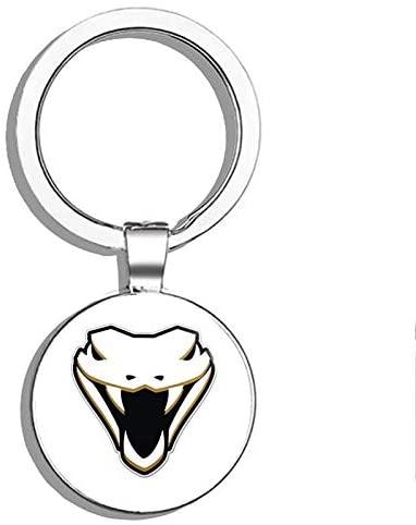 1080 Graphics Cobra Head Snake Skull Scary Evil Metal Round Metal Key Chain Keychain Ring