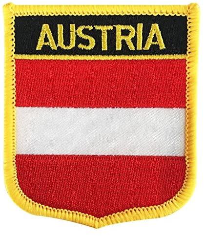 Austria Flag Patch/Österreich National Emblem Heat-Sealing Morale Patch (Austrian Crest, 2.75