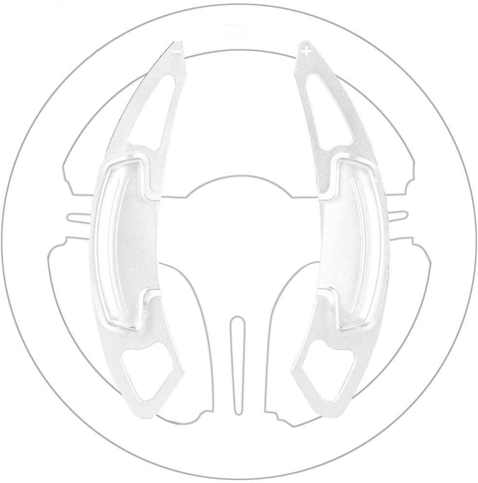 BOYUER Aluminum Metal Paddle Shift Steering Wheel Shifter Extension Covers For Honda Accord Odyssey CR-V Civic Spirior UR-V Acura CDX MDX RDX ILX (Silver)