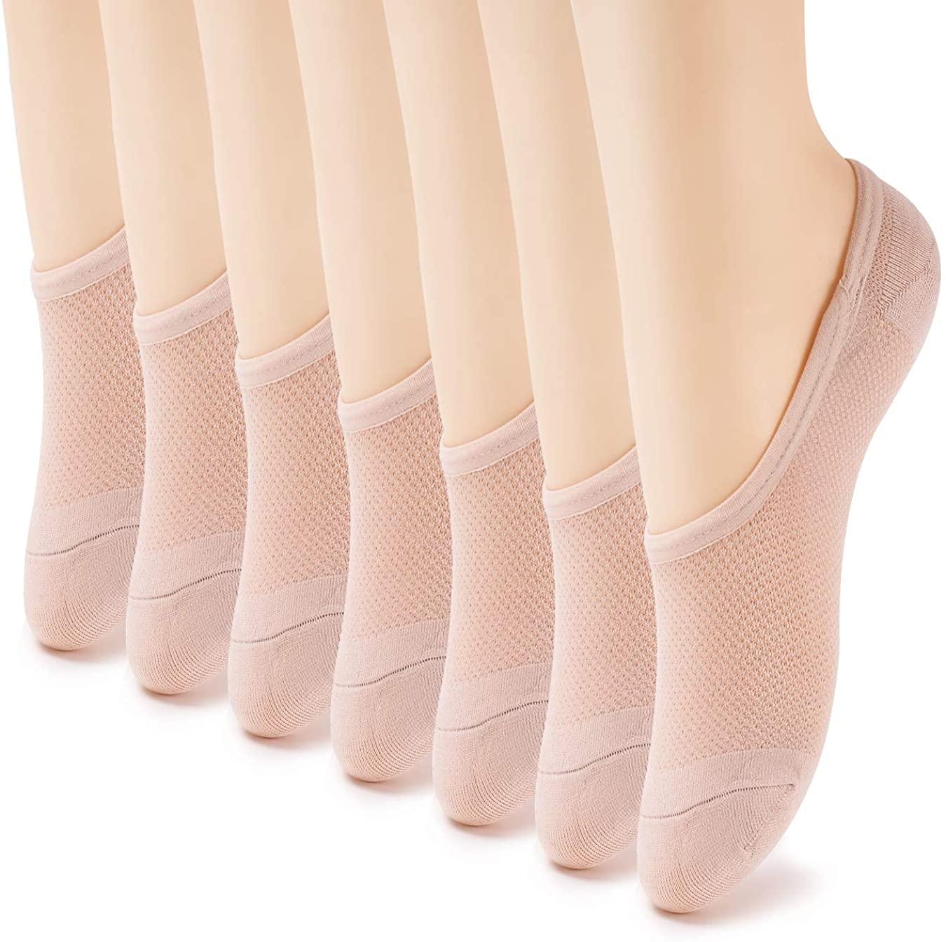 7 Pack No Show Socks Women No Show Liner Socks Womens Thin Low Cut Casual Socks Non Slip