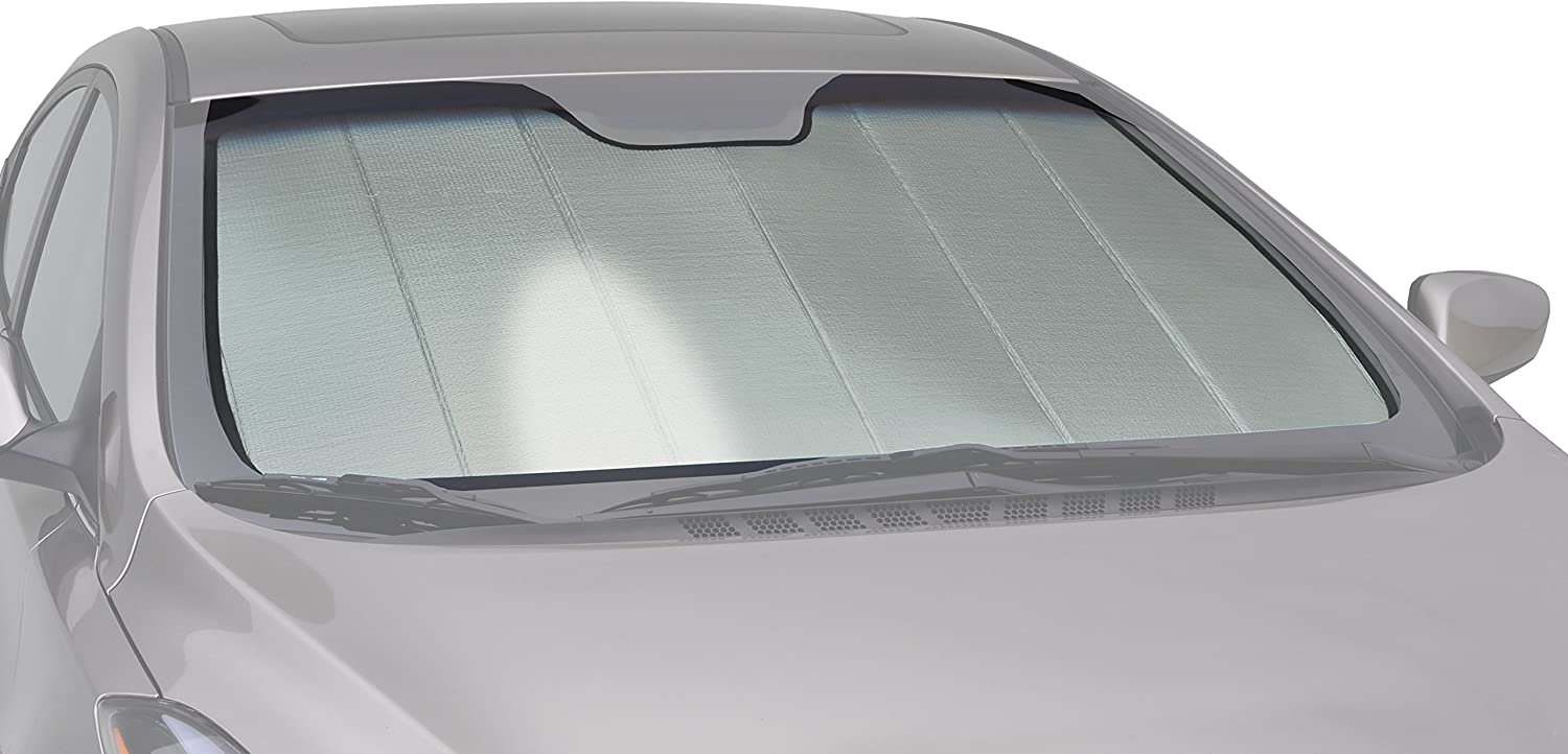 Intro-Tech SZ-12-P Silver Custom Fit Premium Folding Windshield Sunshade for Select Suzuki Reno Models