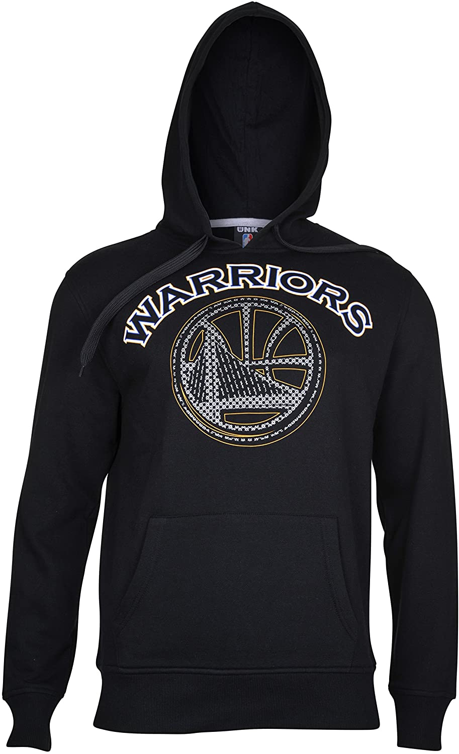 Ultra Game NBA Golden State Warriors Mens Fleece Hoodie Pullover Sweatshirt Primo Metallic, Black, XX-Large