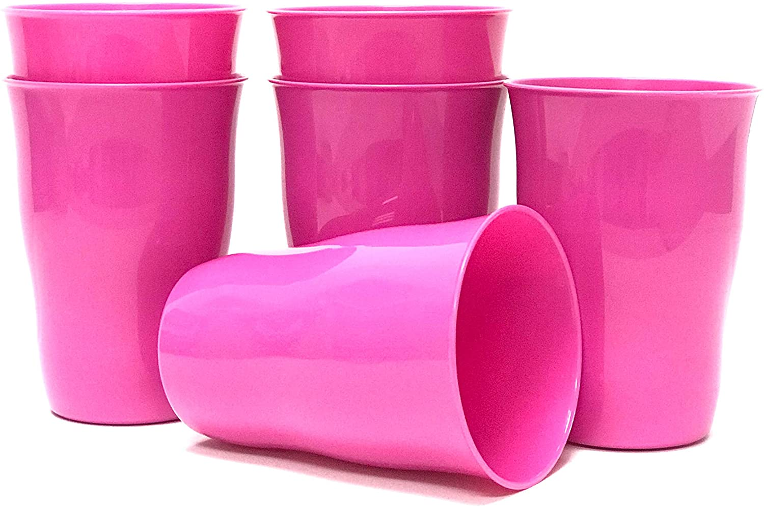 Mintra Home Reusable Plastic Cups 11 Ounce Tumbler for Party, Kids, Home, Kitchen, Events, Drinks and Drinking Water, Juice or Soda - BPA Free Tumblers, Many Colors, Dishwasher Safe -Pack of 6(Purple)
