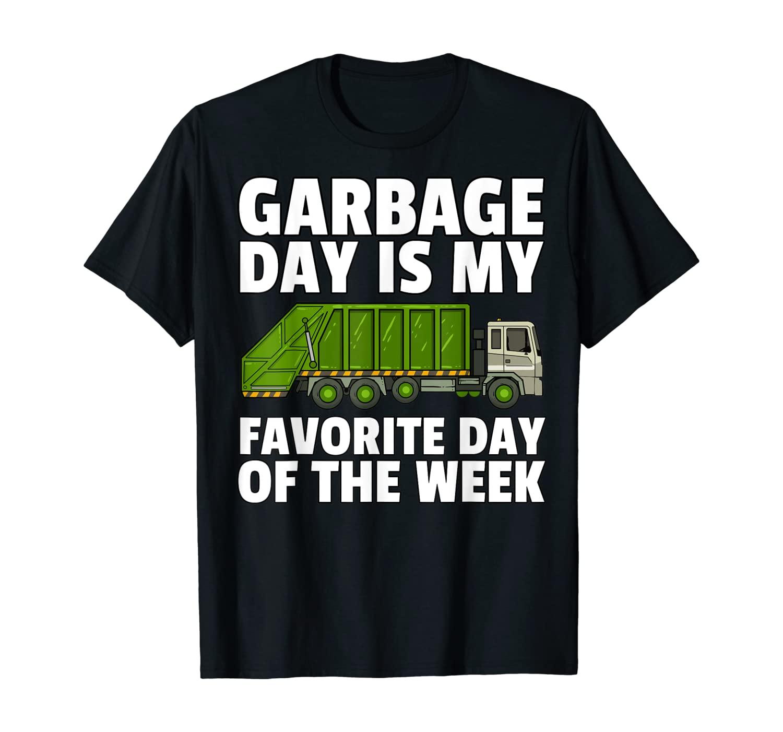 Garbage Day Shirt Trash Truck Recycling Man Kids City Tee T-Shirt