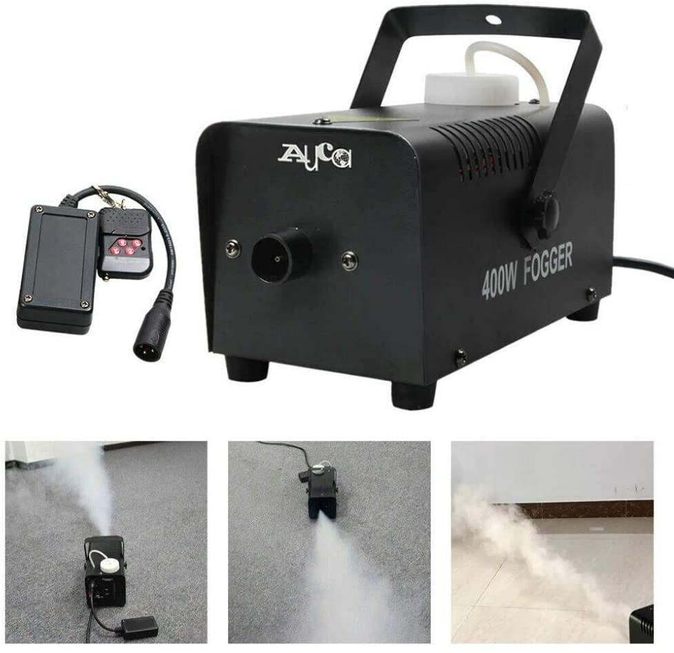 Fog Machine, Remote 400W Smoke Fog Machine Stage Fogger Sprayer for Disco DJ Party Show Club