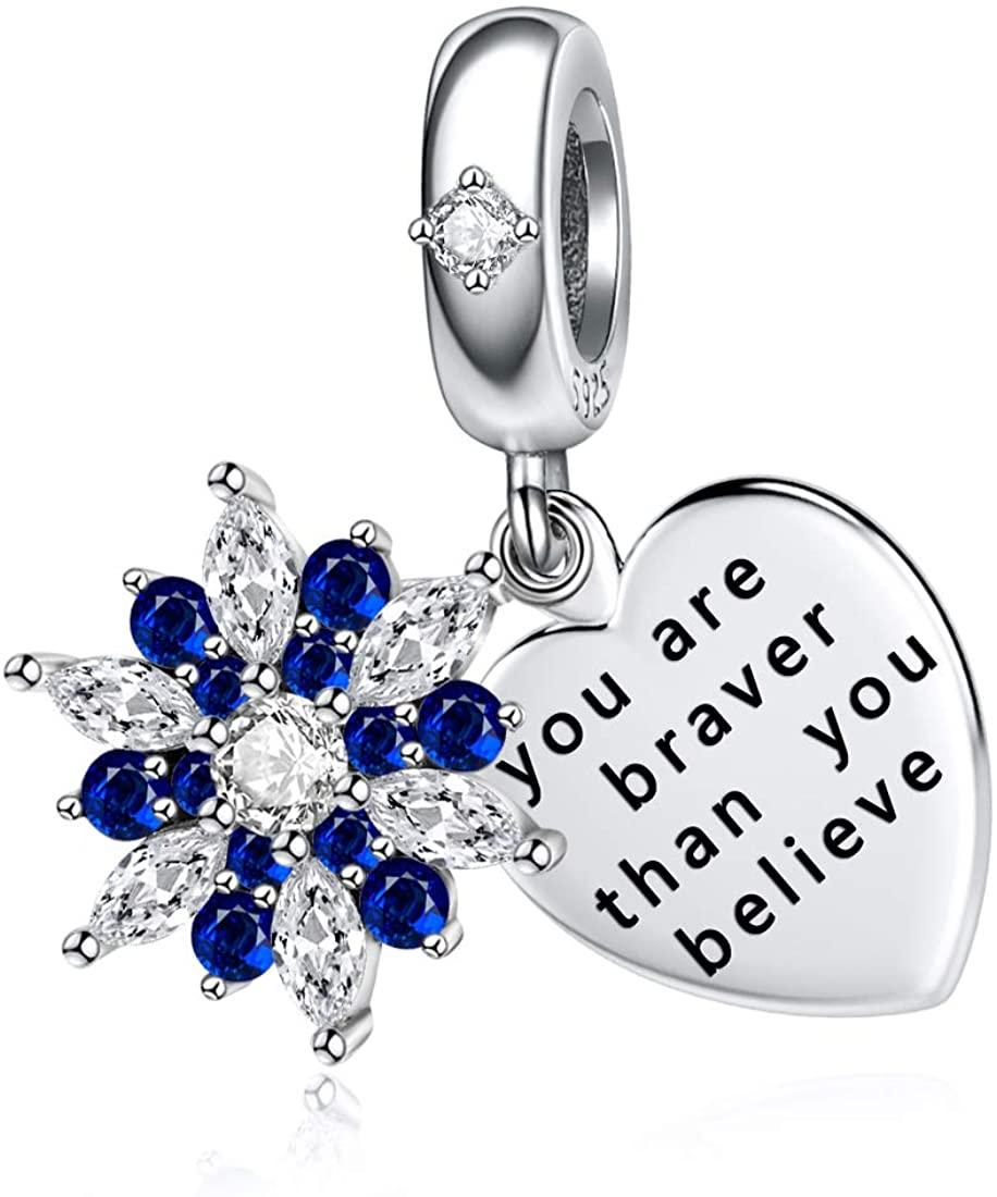 JIAYIQI Christmas Charms Fit Pandora Charms Bracelet 925 Sterling Silver Charms Love Dangle Snowflake Charm for Women Christmas Gift