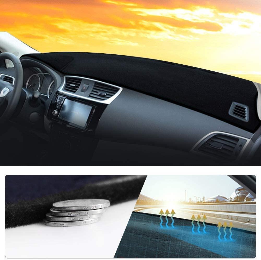 Maite Car Dashboard Cover Custom Fit for Chevrolet Cruze Malibu Trax Equinox Dash Mat with Silicone Non-Slip Bottom, Anti-Glare Black(Black Edge)