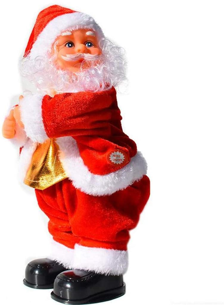 fghjj wihakdh 1 Piece Christmas Electric Santa Claus Toy Dynamics Hip-Shaking Music Electric Doll Toy for Kids Christmas Party
