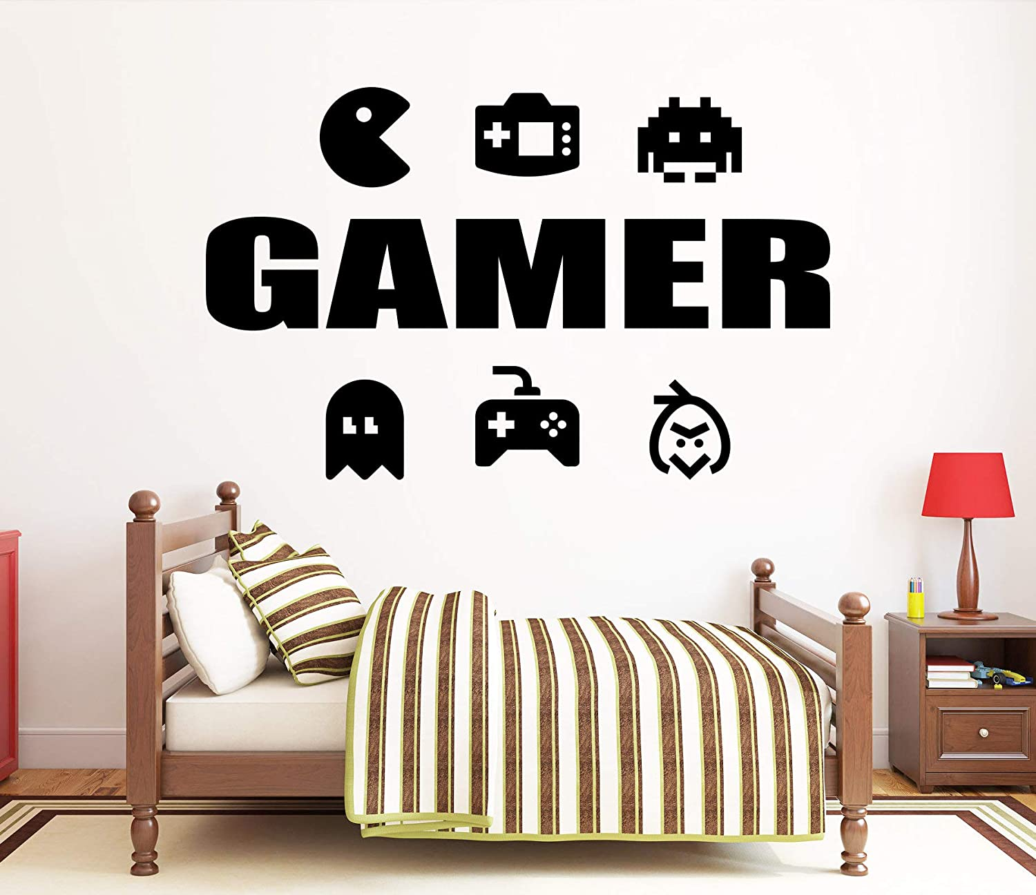 Gamer Wall Decal Video Games Wall Sticker Controller Wall Decal Gaming Room Wall Art 439re