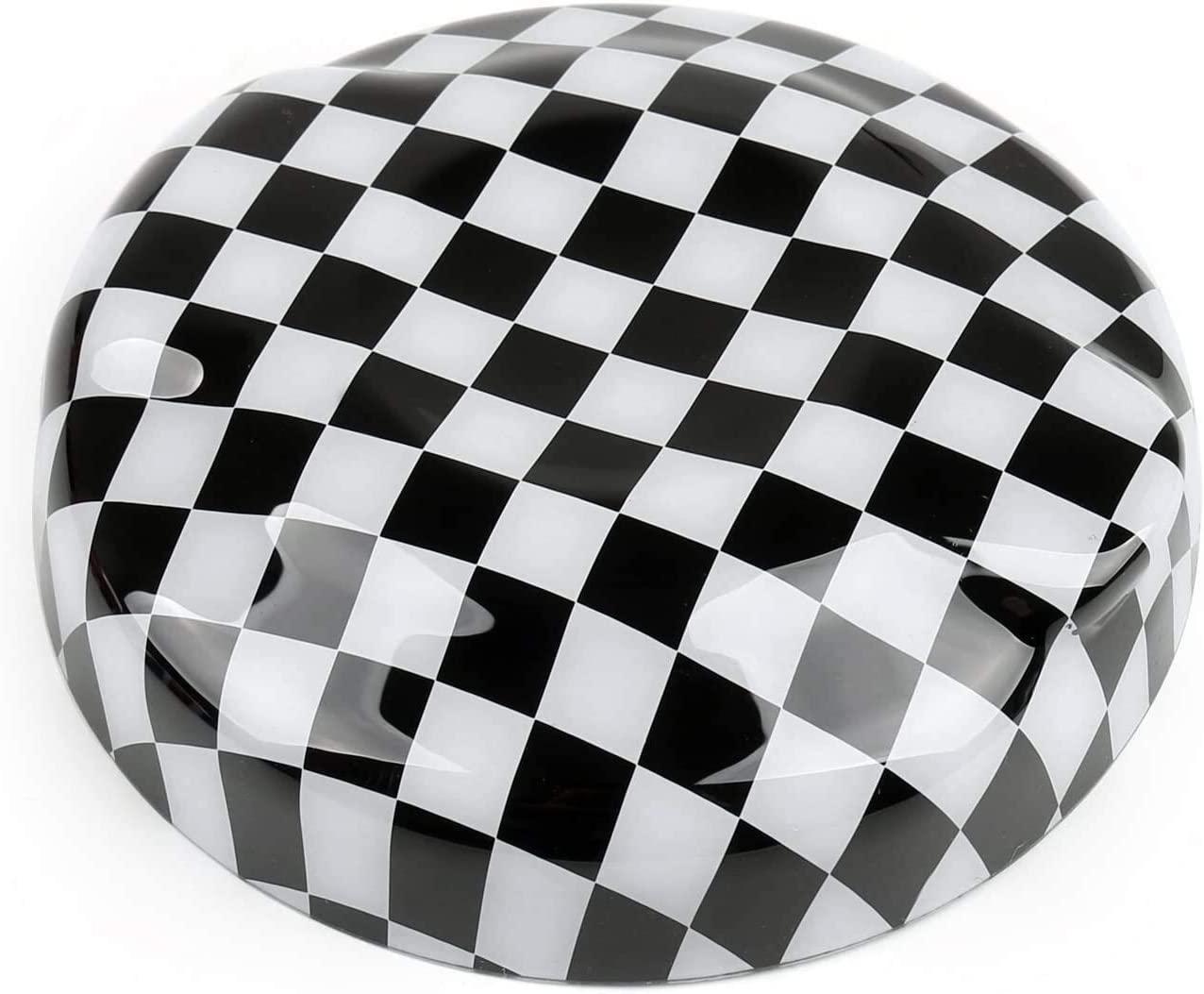 for Mini Cooper Gen3 F55S 2015 +, F56S 2014 +, F57S 2016 + Fuel Tank Cap, Car Oil Fuel Filler Racing Engine Tank Cap Cover Plug (Color : Black White)