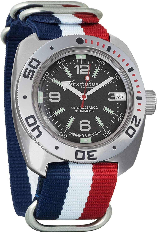 Vostok Amphibian Scuba Dude Automatic Mens Wristwatch Self-Winding Military Diver Amphibia Ministry Case Wrist Watch #640