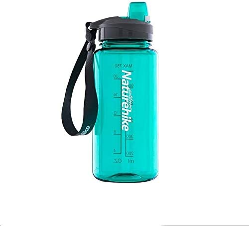 Feeryou Ultra-Thin 750ml Large-Capacity Fashion Water Bottle, high-Endurance Fitness Kettle, Anti-Leakage Sports Cup, Portable Belt Design Super Strong (Color : Beige)