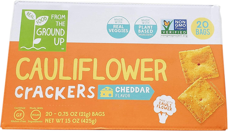 Cauliflower Cracker, Cheddar, 15 Ounce