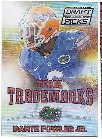 DANTE FOWLER JR. 2015 Panini Prizm Draft Picks Team Trademarks #12 Rookie Card RC Florida Gators Los Angeles Rams Football