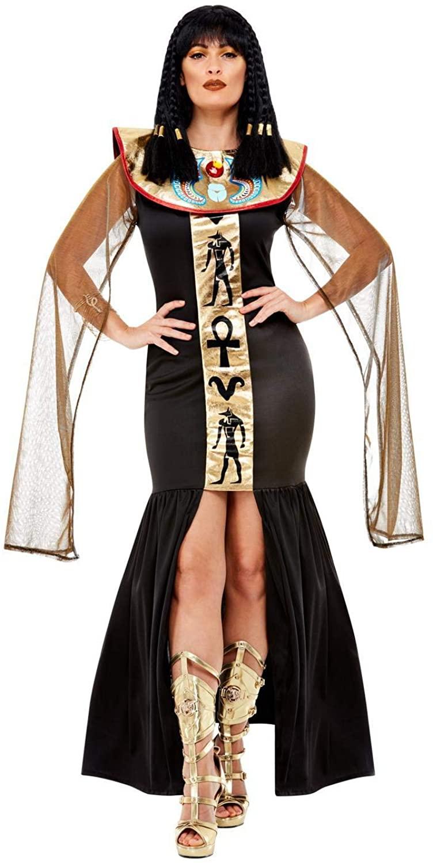 Smiffys Ancient Egyptian Pharaoh Anubis Ruler Women's Costume Large 14-16 Black