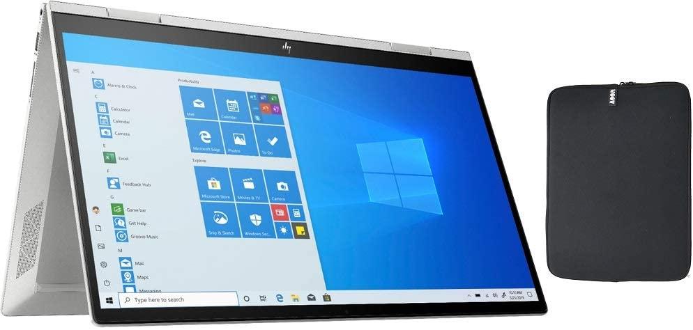 HP Envy X360 2 in 1 15.6 Inch FHD Touchscreen Laptop, Intel Quad Core i5-1035G1 (Beat i7-7500U), 32GB RAM, 1TB PCIe SSD, Backlit Keyboard, Fingerprint, WiFi, Windows 10, w/ WOOV Accessory Bundle