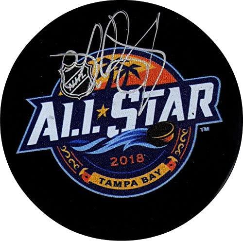 Andrei Vasilevskiy autographed signed NHL Tampa Bay Lightning All Star puck