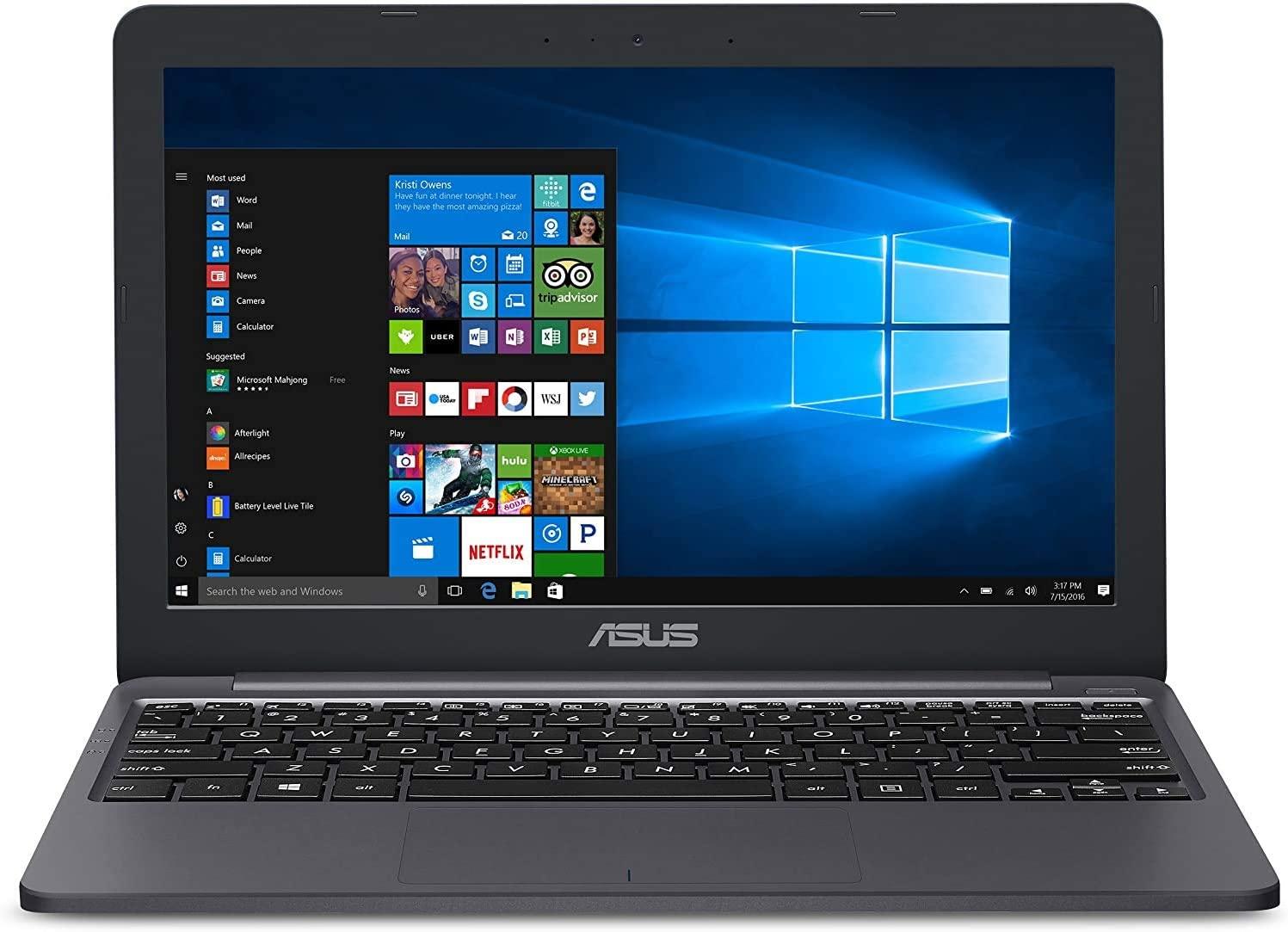 "2020 Newest ASUS Laptop L203MA Thin and Light Laptop, 11.6"" HD Display, Intel Celeron N4000 Processor, 4GB RAM, 64GB Storage, Webcam, Oydisen HDMI, Windows 10 S, Microsoft 365 (Google Classroom Ready)"