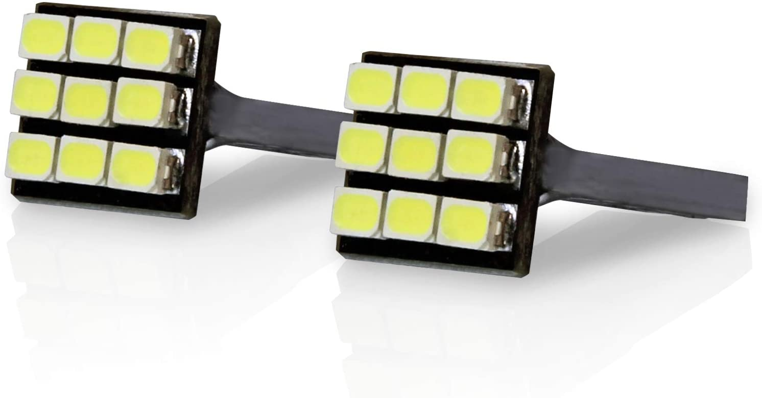 TGP T10 White 9 LED SMD License Plate Wedge Light Bulbs Pair 1995-2012 Compatible with Ford Ranger