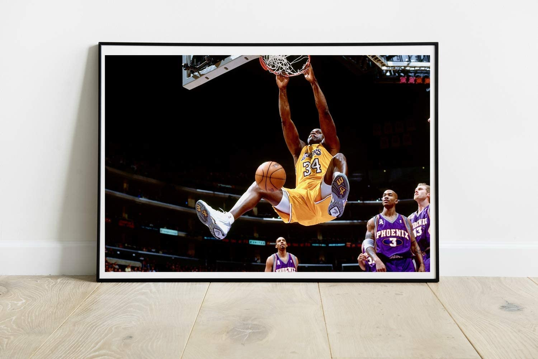 Shaquille O'Neal Poster Professional Basketball Player NBA American Basketball Art Wall Art Print Gift Unframed Canvas Wall Decor Size - 11